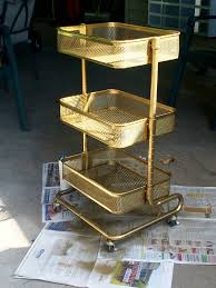 ikea raskog hack raskog cart gold hack bottom shelf for larissa middle shelf