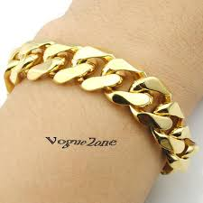 gold hand bracelet images Online cheap 14mm width fashion 316l stainless steel gold hand jpg
