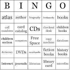 library bingo cards