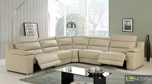 White Leather Recliner Chair Modern Italian Leather Reclining Sectional Sofa
