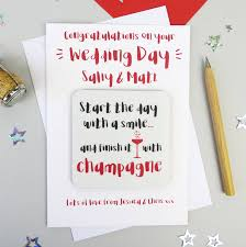 wedding day congratulations chagne wedding day congratulations card by wink design