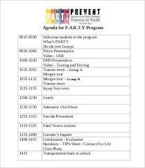 party program template program agenda template 8 free word pdf documents