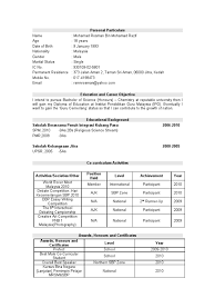 Resume Sample In Malaysia by Resume Sample Malaysia Spm Resume Ixiplay Free Resume Samples