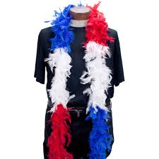 mardi gras feather boas feather boa white blue sections mardigrasoutlet