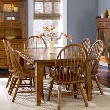 Dining Room Side Table Oak Treasures Dining Room 7 Set Oak Table With 4 Oak Side