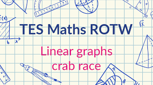 linear graphs crab race tes maths resource of the week