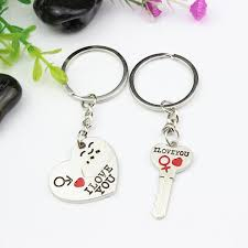 heart key rings images New 1 pair couple i love you letter keychain heart key ring silver jpg