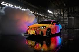lexus tiles review lexus covered a car with 41 999 leds to create the most