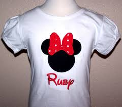 Custom Embroidery Shirts Home Minnie Mouse Personalized Minnie Mouse Shirt Big Bow