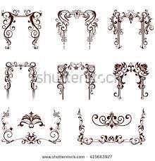 nouveau flower stock images royalty free images vectors