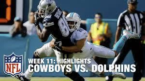 cowboys vs dolphins week 11 highlights nfl