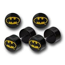 batman earrings batman earrings and plugs