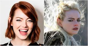 emma stone natural hair emma stone has dyed her hair platinum and fans are making hilarious