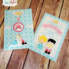 20 cinderella personalized invitation cinderella