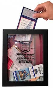 wedding wishes shadow box ticket shadow box memento frame large slot on top