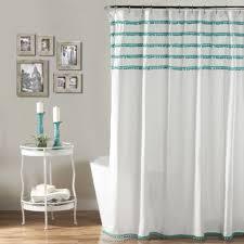 aria pom pom shower curtain