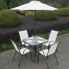 Cream Garden Bench Wooden Garden Dining Furniture Table 4 Chair Patio Set Cream Part