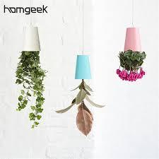 bureau invers creative plastique inversé hanging fleur plante pot