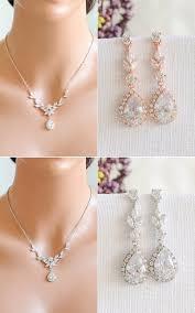 bridal necklace set gold images Rose gold bridal jewelry set backdrop bridal necklace etsy jpg