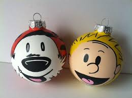 calvin and hobbes painted ornament set on storenvy