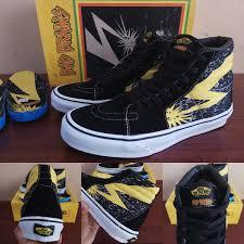 Jual Vans Beatles jual sepatu vans sk8 skate high hi motif bad brains black yellow