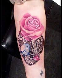 watercolor rose and diamond tattoo venice tattoo art designs