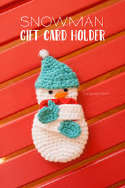 snowman gift card holder crochet pattern one woof