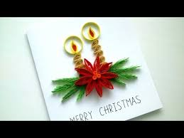 tutorial christmas card quilling candy cane christmas card