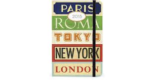cavallini planner 2015 cavallini vintage travel 12 month weekly planner 15 2015