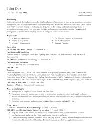 Faking Resume Experience Professional Facilities Technician Templates To Showcase Your