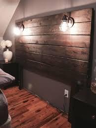 Headboard Designs Wood Build A Rustic Wooden Headboard Walls Bedrooms And Master Bedroom