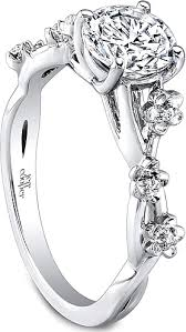 floral engagement rings jeff cooper floral diamond engagement ring rp1614rd
