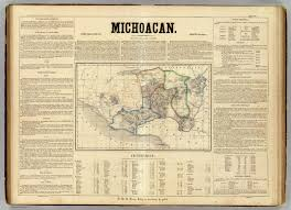Michoacan Mexico Map by Michoacan David Rumsey Historical Map Collection