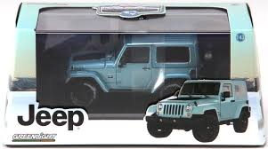 rubicon jeep blue greenlight collectibles o 86031 2012 jeep wrangler rubicon arctic