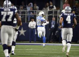 chargers thump fading cowboys on thanksgiving day pros stardem