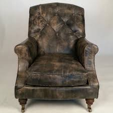vintage leather chesterfield sofa retro traditional english chesterfield sofa chair in antiqued