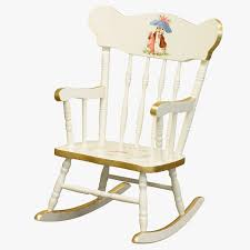 child u0027s rocking chair in antico white and gold with classic