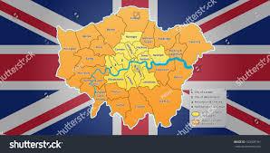 London Flag Photos London Map Union Jack Flag On Stock Vektorgrafik 103909181