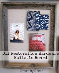 kitchen bulletin board ideas diy restoration hardware bulletin board driven by decor