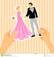 wedding card to groom wedding card with and groom stock vector illustration of