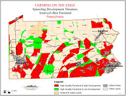 Pennsylvania Map by American Farmland Trust Resources Farming On The Edge Report