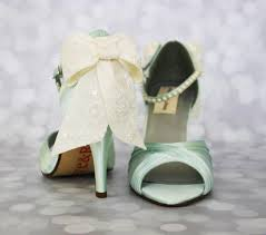 mint wedding shoes wedding shoes mint peep toe wedding shoes with ivory lace