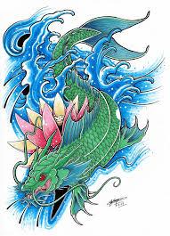 dragon koi tattoo design danielhuscroft com