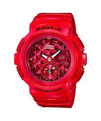 Jam Tangan Baby G Warna Merah jual jam tangan wanita analog digital tali karet warna merah casio