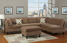 Sectional Sofas Fabric Living Room Microfiber Sectional Couch Blue Sofa Queen Sleeper L
