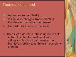 hamlet themes love hamlet act ii themes appearance vs reality 1 polonius orders
