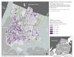 Bronx Map Exercise 1 Visualizing Poverty Among Single Mothers In The Bronx