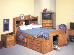 Beds With Bookshelves Full Size Bed With Bookcase Headboard Foter