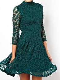 thanks giving day green lace high super neck in store sheer 3