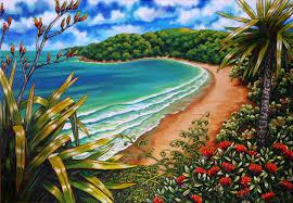 native plants nz caz novak new zealand artist pacifica coastal nz art